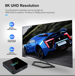 8K UHD RESOLUTION WHEN USING THE X10 MAX 4G+64G ANDROID SMART TV BOX, 9.0 O/S | IPTV