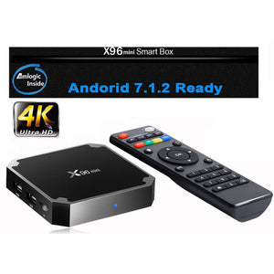 X96 Mini 2G/16G Android Smart TV Box Bundle | Plug and Play | 7.1.2 O/S