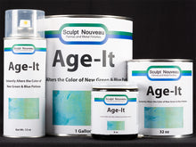 Sculpt Nouveau Age-It in 8oz., 32oz., and 1 gallon containers and 12oz. spray cans