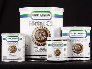 Sculpt Nouveau Clear Metal Oil in 8oz., 16oz., 32oz., and 1 gallon sizes