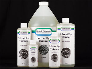 Sculpt Nouveau Solvent Dye Thinner in 4oz., 8oz., 16oz., 32oz., and 1 gal. sizes