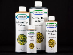 Sculpt Nouveau Yellow Solvent Dye in 4oz., 8oz., 16oz., and 32oz. sizes