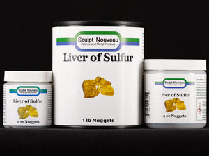 Sculpt Nouveau Traditional Liver of Sulfur Patina in 2oz., 4oz., and 1lb. sizes