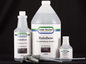 Sculpt Nouveau Traditional Rainbow Patina in 8oz., 32oz., and 1 gallon sizes