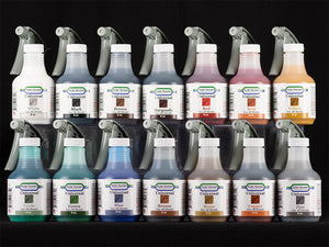 Sculpt Nouveau White, Black, Brown, Burgundy, Red, Rust, Yellow, Verde, Green, Blue, Bronze, Brass, Copper, and Zinc Universal Patinas in 8oz. spray bottles