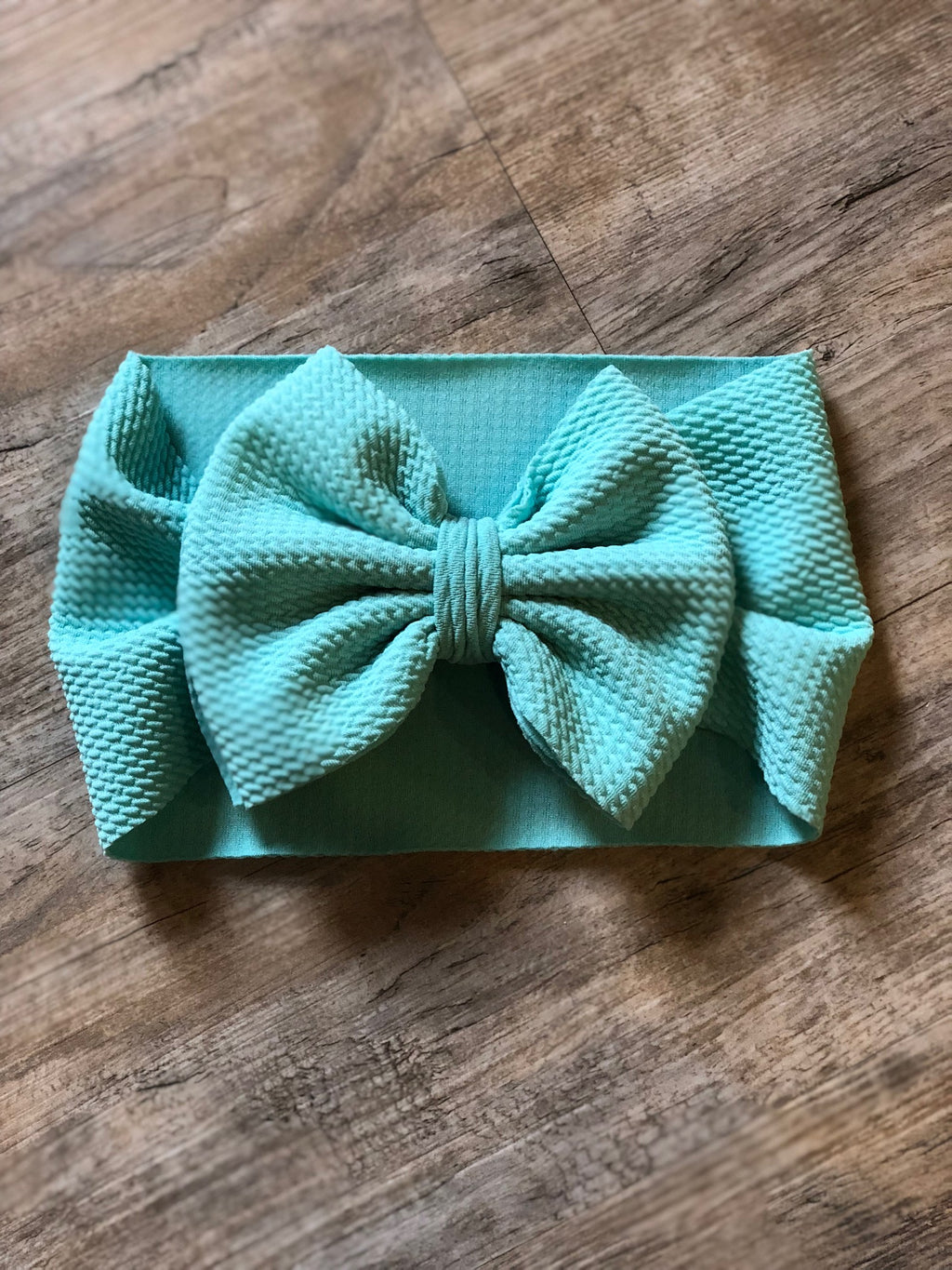 Turquoise Bow Wrap