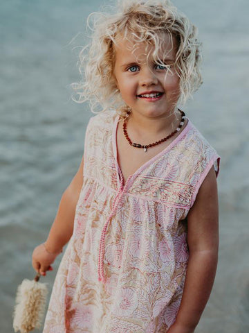 Little Luna Dress, Peony