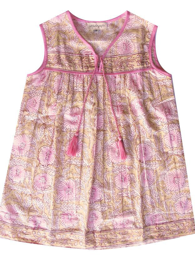Little Luna Azalea Sleeveless Dress, Pink