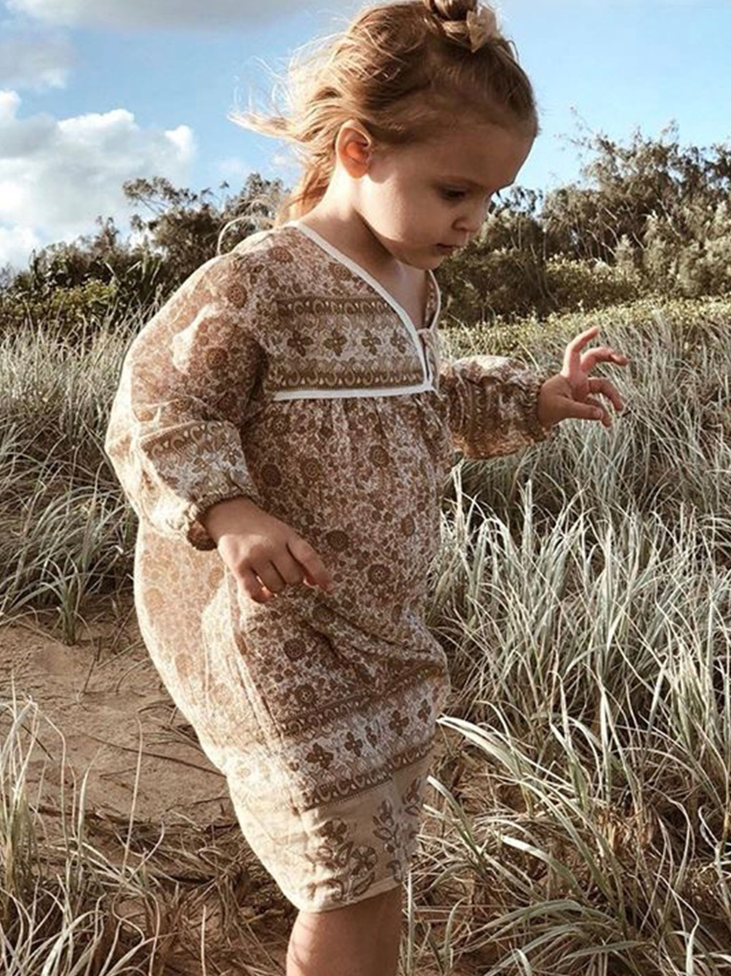 Little Luna Dress, Clay
