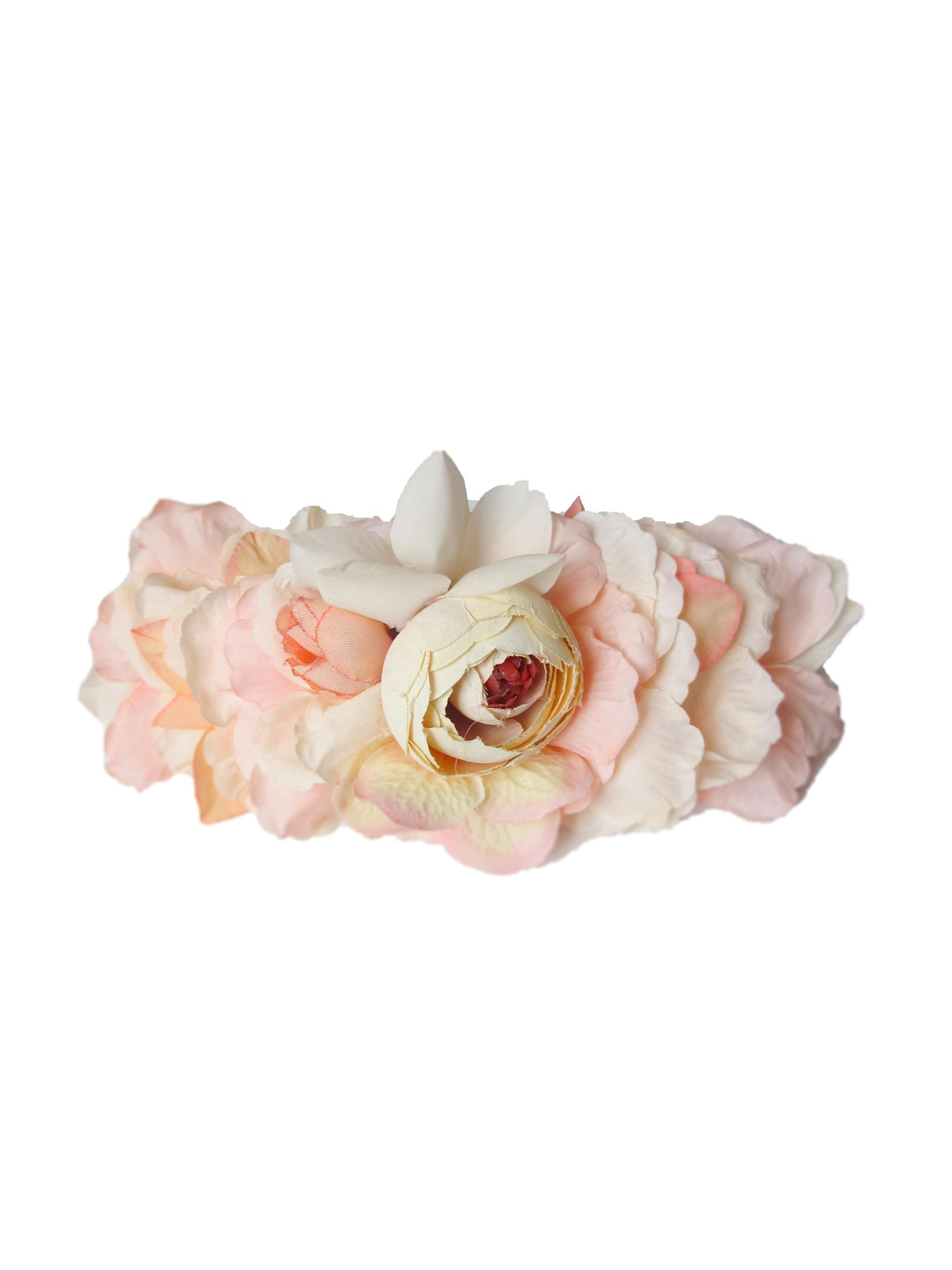 Paige Flower Headcrown, Peach