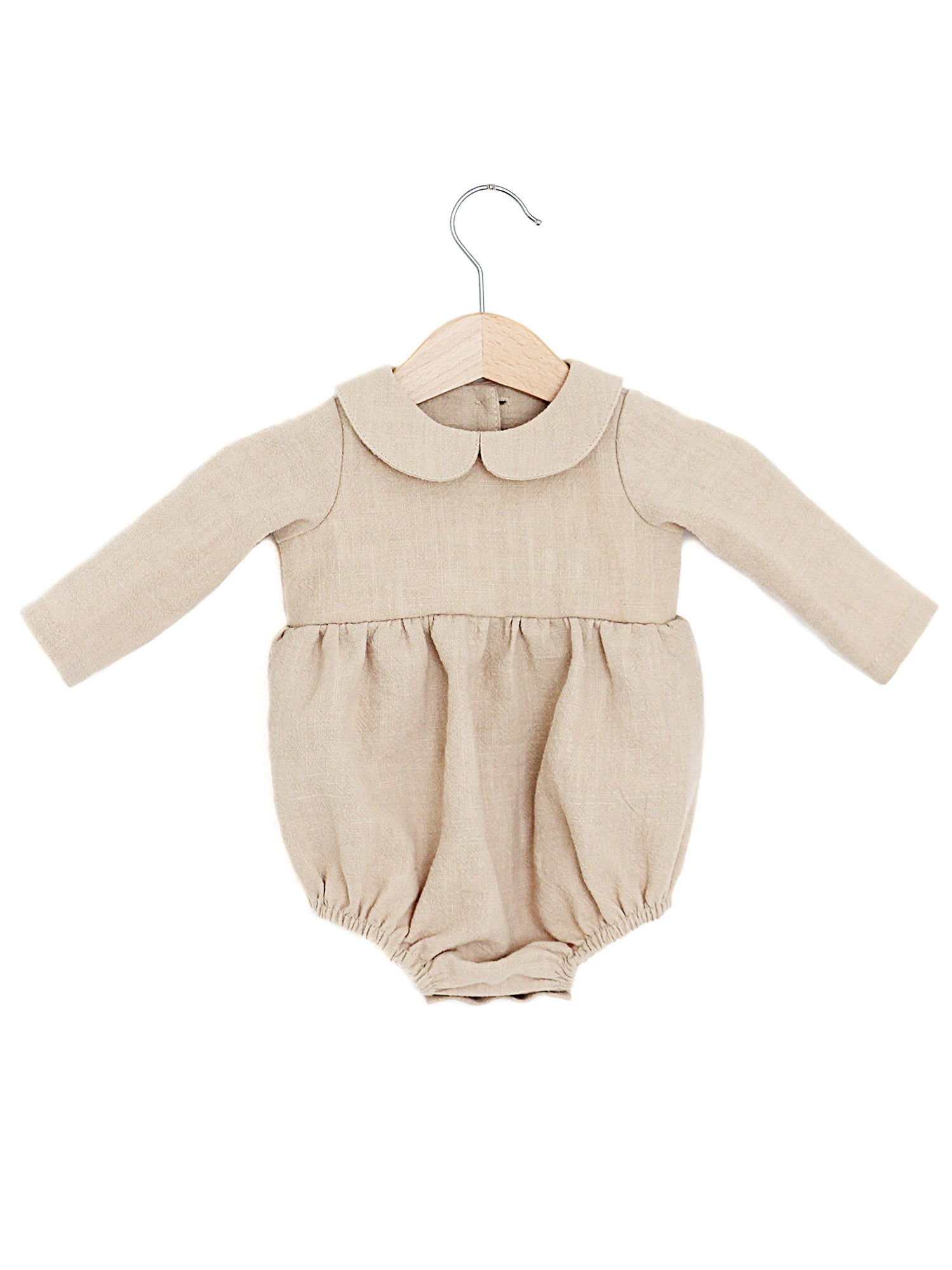 6bb6492200b3 The Matilda  Linen Peter Pan Collar Romper