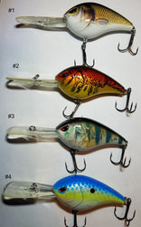 3 Inch 1oz Deep Diving Lure Swimbait Crankbait 4 Styles - Pro Gear Fishing Reels