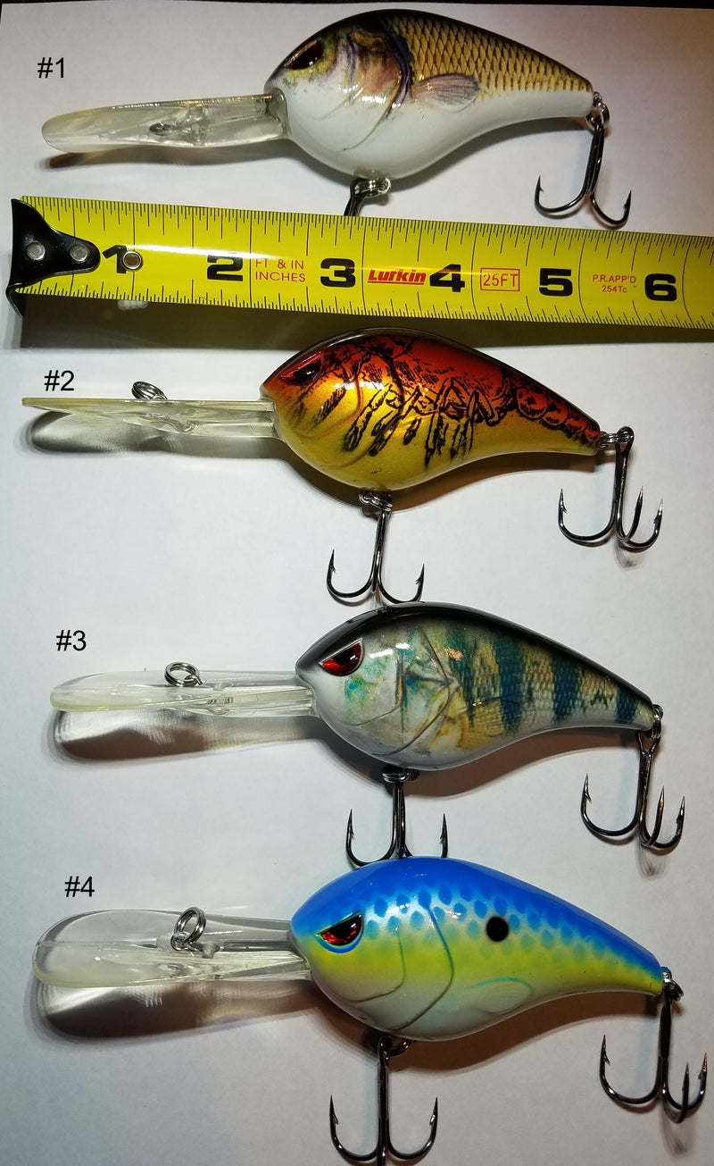 3 Inch 1oz Deep Diving Lure Swimbait Crankbait 4 Styles