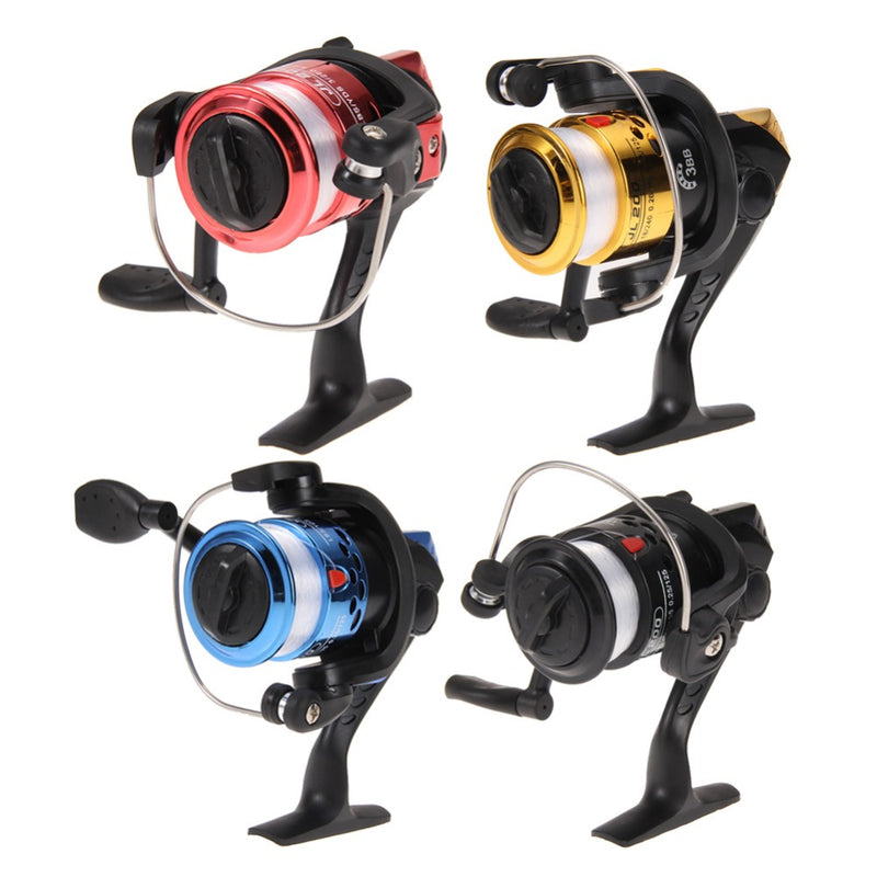 Fishing Reals Aluminum Body Spinning Reel High Speed G-Ratio 5.2:1 Fishing Reels with Line Copper rod rack drive - Pro Gear Fishing Reels