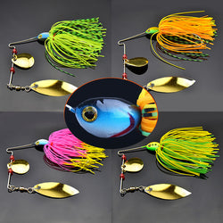 Mixed Color Plastic Spinner Fishing Lures 4 Colors Available - Pro Gear Fishing Reels