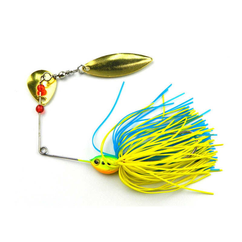 HENGJIA 1PCS Mixed Color Spinner Fishing Buzzbait 16.3g Rotating Flash Spoon - Pro Gear Fishing Reels
