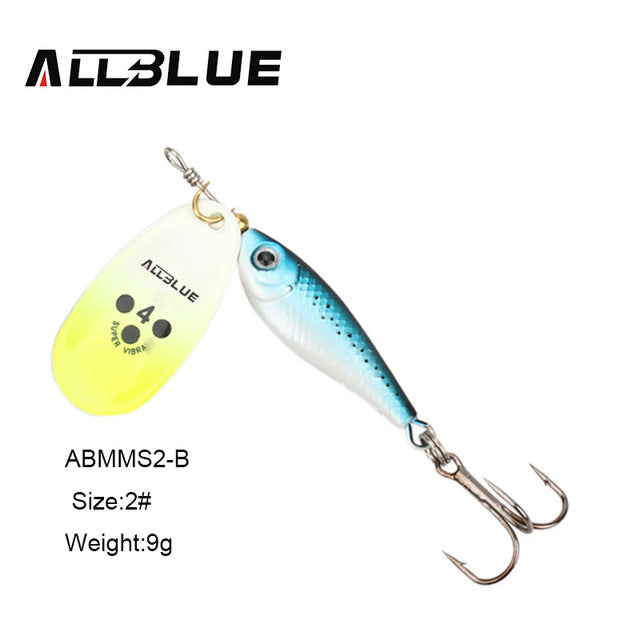 ALLBLUE Long Casting Minnow Super Spinner 9g/13g/18g 5 Colors Available - Pro Gear Fishing Reels