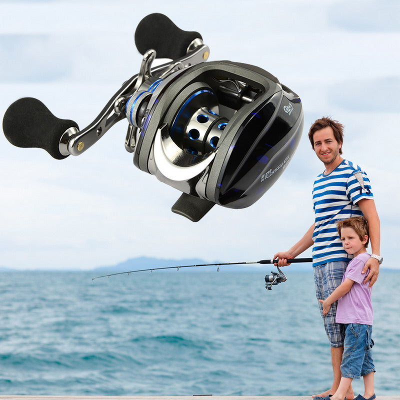 Professional Fishing Reel Ball Bearing 12+1 BB Gear Ratio 6.3:1 Left Right Hand Baitcast Reels High Tensile - Pro Gear Fishing Reels