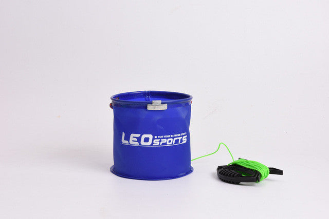Portable Folding Canvas Bucket Tackle For Live Fish Water Storage - Pro Gear Fishing Reels