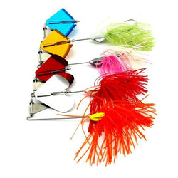 4pcs Spinner Baits and 10pcs Metal Fishing Lures - Pro Gear Fishing Reels
