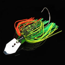 1PCS Buzz Bait Metal Spoons Spinner Bait with Crank Hooks Available in 6 Colors - Pro Gear Fishing Reels