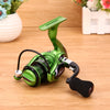 Metal Arm 13+1BB Spinning Fishing Reel Foldable Handle Fishing Reels Green 1000-7000 Series G-Ratio 5.5:1 Drive - Pro Gear Fishing Reels