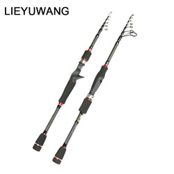 Lieyuwang Telescopic Spinning Rod 2.1M 2.4M 2.7M - Pro Gear Fishing Reels