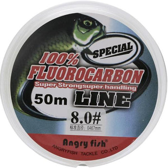 Fluorocarbon Fishing Line 50m transparent Super strong - Pro Gear Fishing Reels