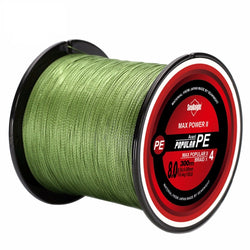 Tri-Poseidon Series 300M 328yds 4 Strands Braided Fishing Line Multifilament PE Braided Wire 8LB 10LB 15LB 20LB 7 Colors Available - Pro Gear Fishing Reels
