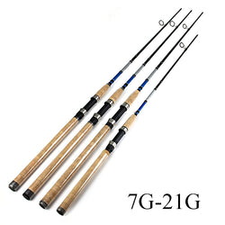 FISH KING 99% Carbon 2.1M 2.4M 2.7M C.W 3-40G 2 Section Fishing Rod Spinning Fishing Rod - Pro Gear Fishing Reels