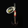 3PCS 6cm 2.2g Metal Spinner Spoon with Hook - Pro Gear Fishing Reels