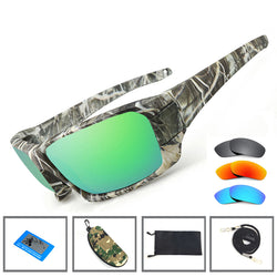 NEWBOLER Fishing Sunglasses 4 Polarized UV lens Camouflage Frame Men Women Sport Sun Glasses - Pro Gear Fishing Reels