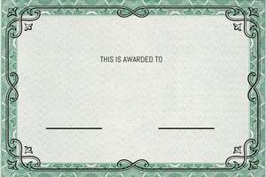 Custom Award Customizable Certificates