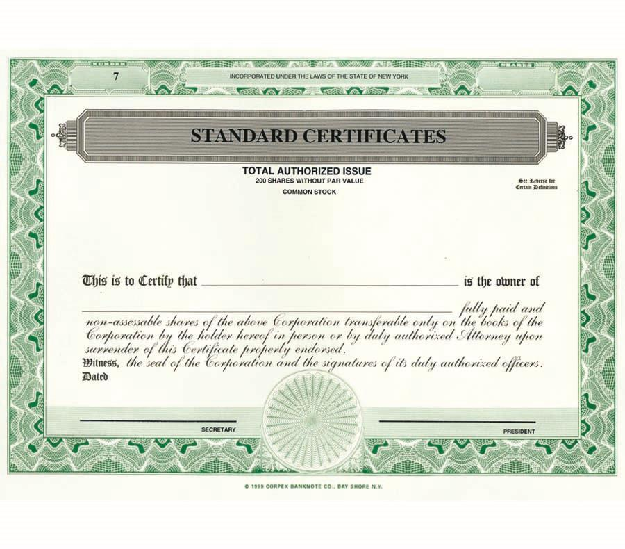 LLC Certificates - LLC Certificates - Set Of 20
