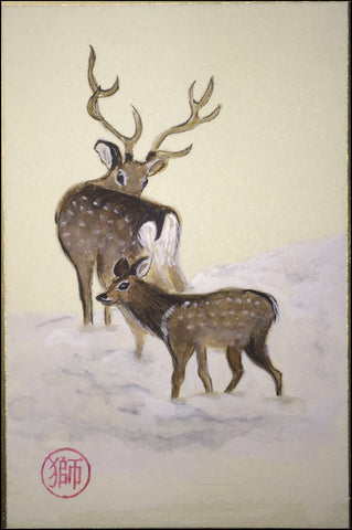 Deers in winter