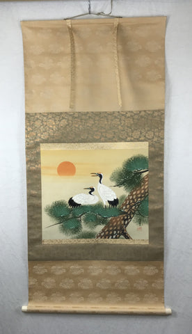 Cranes, pine and sun - with BOX