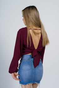 Alexia Backless v-neck wrap
