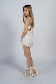 Hazel Lace White Playsuit