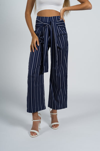 Freesia Silky Striped Pants