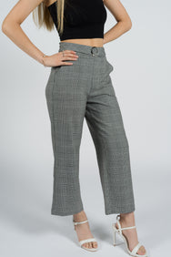 Daisy Straight-leg Checkered Pants