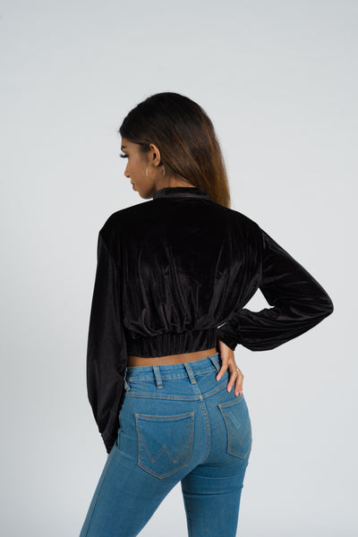 Lobelia High Neck Crop Jumper