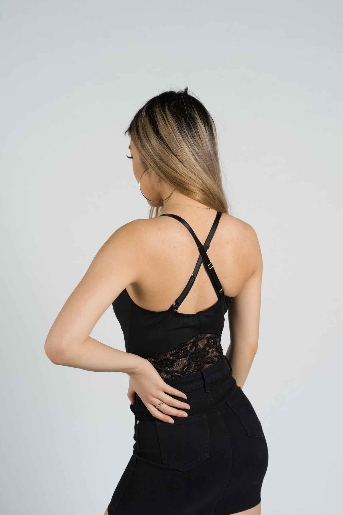 Hibiscus Cut Out Lace Bodysuit