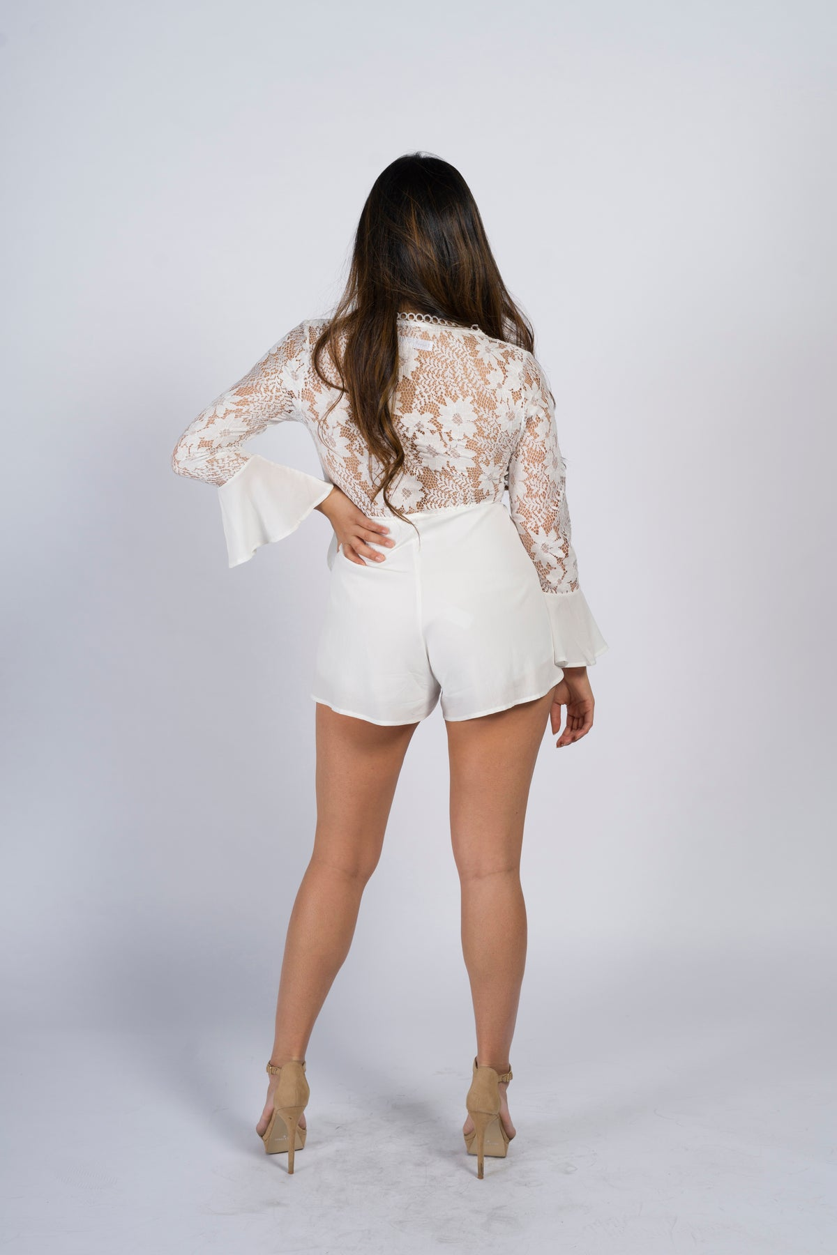 Grace Lace Back Playsuit