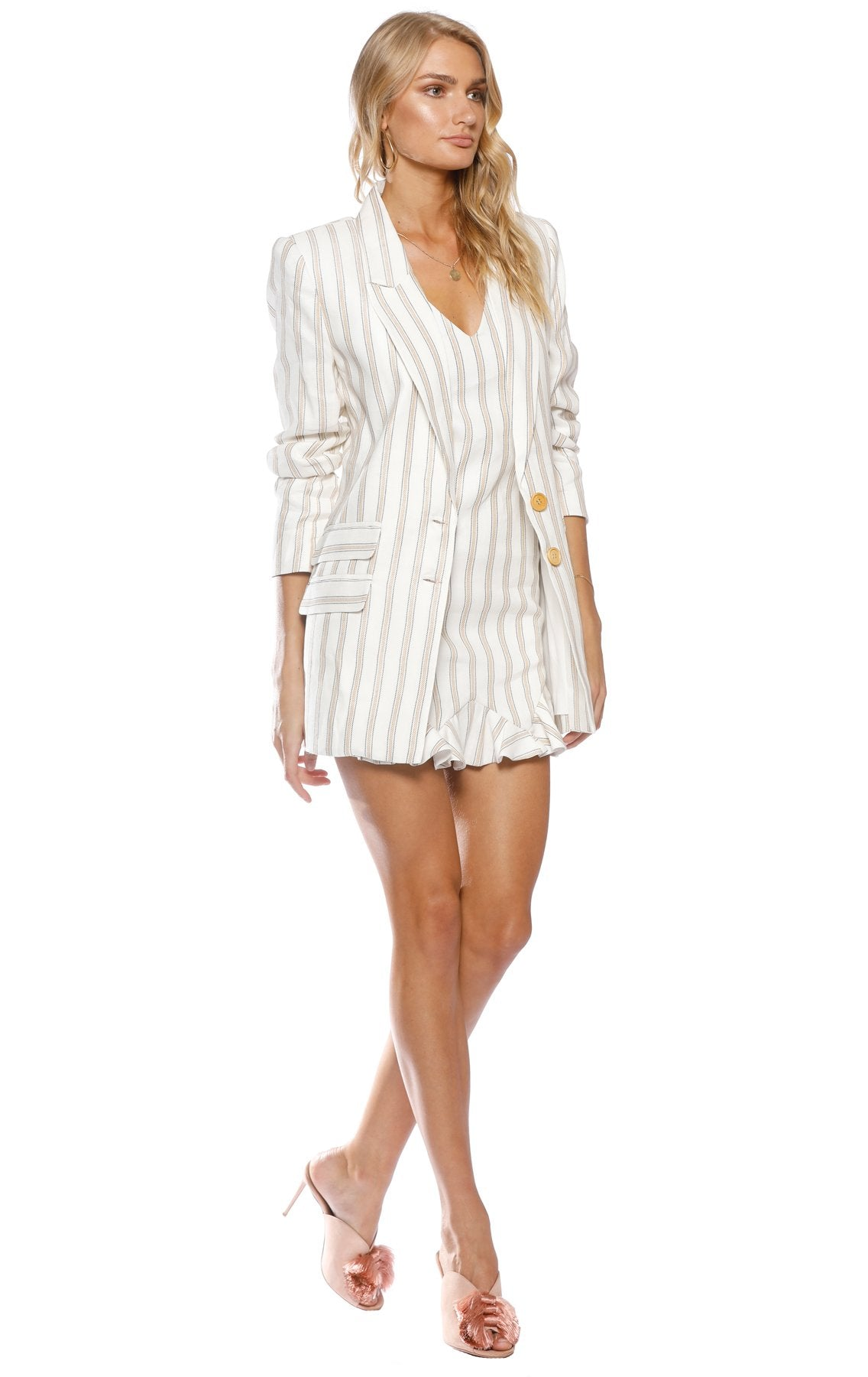 Pasduchas Ribbon Stripe Blazer - Stevie May, The East Order, Talulah, Pasduchas, Everly Collective