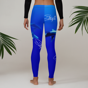 Saltgirl Shark Leggings - Saltgirl Clothing - Women's Saltwater Fishing Apparel and Swimwear
