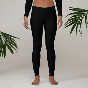 Midnight Black Leggings - Saltgirl Clothing - Women's Saltwater Fishing Apparel and Swimwear