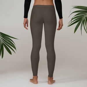 Chocolate Brown Leggings - Saltgirl Clothing - Women's Saltwater Fishing Apparel and Swimwear