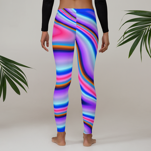 Rainbow Color Splash Leggings - Saltgirl Clothing - Women's Saltwater Fishing Apparel and Swimwear