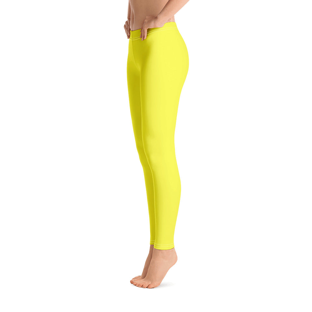 Lemon Yellow Leggings - Saltgirl Clothing - Women's Saltwater Fishing Apparel and Swimwear