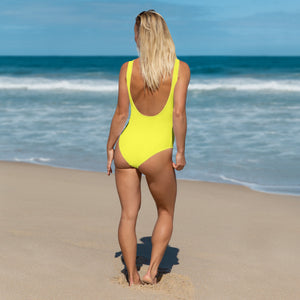 Lemon Yellow One-Piece - Saltgirl Clothing - Women's Saltwater Fishing Apparel and Swimwear
